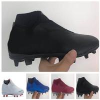 2018 nuevos zapatos de los hombres de la serie Shadow Phantom Vision Academia MG alta fútbol, entrenamiento, zapatillas de deporte de las botas de fútbol con tacos de clavos, Camping botas de montaña