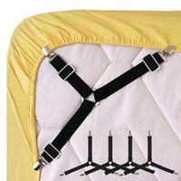 Le drap de lit réglable de triangle coupe les courroies la pince la bretelle la couverture ajustée de drap attache le support à la maison l'outil pratique 1-4pcs / set