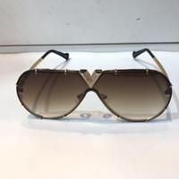 Millionaire 1060 Gafas de sol para hombres y mujeres Estilo de verano Anti-ultravioleta Retro Placa de metal Oval Frame Full Fashion Gafas Caja aleatoria