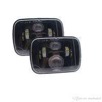 """2 piezas 60w lámpara principal para jeep YJ XJ Cherokee 5x7 """"faro LED rectangular 6x7 cuadrado LED faro de iluminación de camión para MJ Comanche 86-92 Tru"""