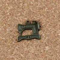 Швейная машина подвески подвески 100 шт. / лот 20x18 мм античный бронзовый сплав ewelry DIY Fit браслеты ожерелье серьги A-308