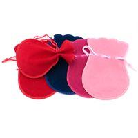 400pcs/lot Small Velvet Drawstring Cotton Gifts Bag Pouches 7*9cm fit Necklace Bracelet Jewelry Package Presents Bags
