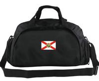 Florida Duffel Bag USA В Боге Мы доверяем провинции Tote Солнцезащитное состояние Флаг Рюкзак Banner Багаж Спорт Плечо Duffle Наружный слинг