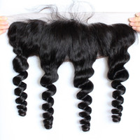 Brazilian Loose wave 13x4 Lace Frontal Closures Free Part 10...