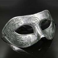 Retro greco-romano Gladiador dos homens Glitter fancy dress Máscara do disfarce lutador grego e romano antigo novo Mens Halloween Costume Party Mask
