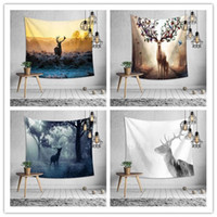 Forest deer wall hanging tapestry 8 design bedroom decoratio...