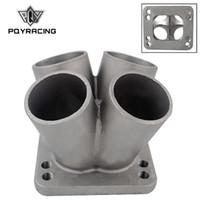 PQY - Colector de cabezal Turbo 4-1 Turbo fundido de acero inoxidable T3 T4 con brida T3 PQY-THM01-4
