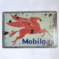 Mobilgas Motor Oil Vintage Rustic Home Decor Bar Pub Hotel R...