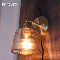 new copper wall sconce lamp handmade frosted glass modern br...