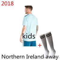 9bdaa3017 Free DHL Top thailand quality kids Northern Ireland jerseys 2018 home green Tuaisceart  Eireann McNAIR K.LAFFERTY DAVIS