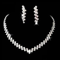 Wedding Jewelry Crystal Bridal Gifts Choker Necklace Earring...