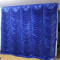 3 M * 3 M onda fondale festa ripple sfondo acqua mantello matrimonio tenda backcloth (10ft * 10ft)