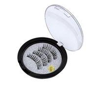 Alta qualidade Três ímã 3D magnética cílios postiços naturais feitos à mão 3 magnética cílios postiços cílios olho beleza maquiagem acessórios