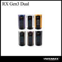 Autentyczne WISMEC REULEAUX RX GEN3 Dual TC Box Mod 230W Powered by Dual 18650 Bateria NO Dołączona E Cig Vape Mod