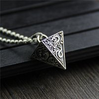 925 sterling silver pendant four god beast pyramid necklace ...