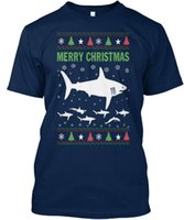 Merry Christmas Shark Fish Lover Lovers - T Shirt Casual T Shirt Homme Motif à manches courtes Summer O - Neck Tops Normal