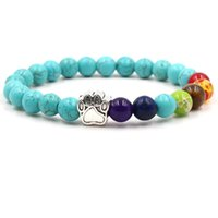 Yeni Moda Turkuaz Tigereye Yoga Bilezik Köpek Paw Lava Kaya Doğal Taş Lapis Lazuli Boncuk Buda Bilezik İçin Hediye