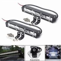 2PCS 18W 7INCH LED السيارات الخفيفة العمل بار بقعة لتعليم قيادة السيارات الضباب الضوء على الطرق الوعرة SUV شاحنة 6000K