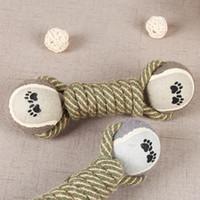 الحيوانات الأليفة مضغ اللعب للكلاب جرو تنظيف الأسنان منتجات التدريب مستلزمات الحيوانات القطن حبل التنس لعبة المولي الكلب لعبة الكرة
