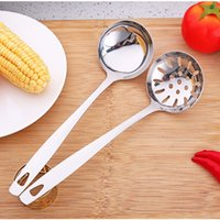 Stainless Steel Colander Soup Spoon Long Handle Strainer Ski...