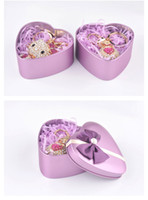 brand new key chain rings box packing metal material heart s...