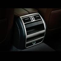 자동차 스타일링 후면 공기 조절 벤트 장식 프레임 공기 배출구 BMW F10 5 시리즈 자동차 액세서리 용 커버 트림 스트립 스티커