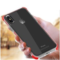 Non- slip 2 in 1 Shockproof transparent Hard TPU Case for iPh...