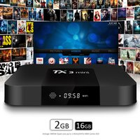 Горячий X96 TX3 Mini Android 7.1 TV Box Amlogic S905W Quad Core 1GB 2GB Ram 8GB 16GB Rom Smart Media Player Поддержка 2.4G Wifi HD Better T95 S1