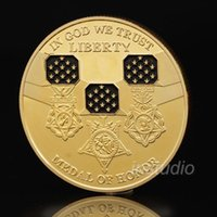 American Statue of Liberty Medal of Honor Gold Plated Coin C...