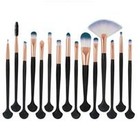 All'ingrosso MAANGE 15Pcs shell kit di pennelli trucco Ombretto Brow Eyeliner Eye Lashes Lip Foundation Power Cosmetici Make Up Brush Strumento di bellezza