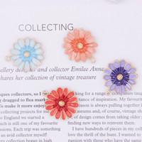 100 pcs Esmalte Daisy Encantos Pingente, Esmalte Charme, flor charme, floral, planta, material de artesanato, diy achado, 27 * 23mm