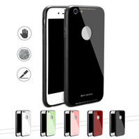 Soft TPU Edge Anti- strength Tempered Glass Panel Hard Back C...