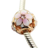 Spring Magnolia Bloom Charm Silver Beads para mujer DIY Jewelry Making Charms Silver Fit Original 925 Charms de plata Collar de pulsera