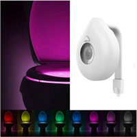 8 Colors Motion Sensor Toilet Light Battery Operated Backlig...