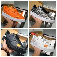 Nike Air Force 1 Forces Shoes JUST DO IT AF1 Mens Running Shoes 1 Low High White Total Orange Zapatillas de deporte Skateboard Mujer Diseñador Zapatillas deportivas 36-45