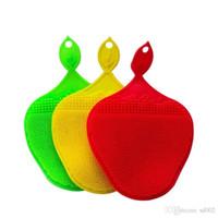 Reinigungsbürste Silikon Kreative Mehrzweck Verschleißfeste Erdbeere Form Küche Werkzeug Zweiseitige Bathe Isolierung Pad Matte 7 15br dd