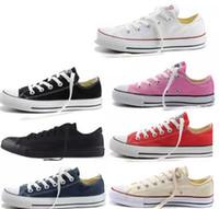 NOVA size35-46 Novo Unisex Low-Top High-Top Adulto das Mulheres dos homens Sapatos de Lona 15 cores Laced Up Sapatos Casuais Sapatilha sapatos de varejo