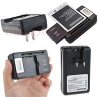 Universal Inteligente Indicador LCD Cargador de batería para Samsung S4 I9500 S3 I9300 NOTA 3 S5 con salida de carga USB EE. UU.
