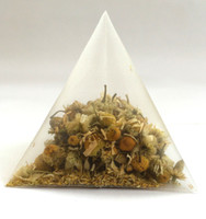 5.5 * 7cm والقابلة للتحلل غير المنسوجة الهرم كيس شاي فلاتر نايلون تيباج سلسلة واحدة مع تسمية شفافة 1000PCS فارغة أكياس الشاي