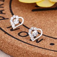 Bolzen-Ohrringe Neue Art und Weise reizende Frauen-Herz-Kristallohr-Bolzen-Ohrring-Schmucksachen für reizend Geliebterchemise-Ohr-Ring Diamante Earing eardrop Ear Acc
