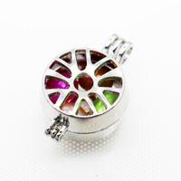 Neue Design Perlenkäfig Anhänger Hohl Perle Käfig Halskette Mit Kette Fügen Sie Ihre Perle Bead Stone