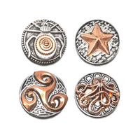 Alta qualit starfish polvo W115 18mm 20mm strass botão de metal para botão de pressão Pulseira Colar de Jóias Para As Mulheres jóias de Prata