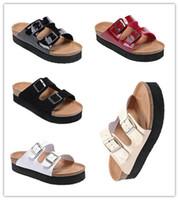 Новый известный бренд Аризона Брик мужчины плоский каблук пробковые тапочки женщины натуральная кожа повседневные сандалии с пряжкой летние пляжные туфли с толстым дном