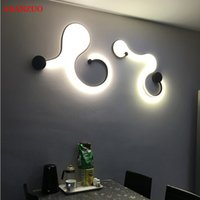 LED Snake wall lamps Modern minimalist creative curve lights...