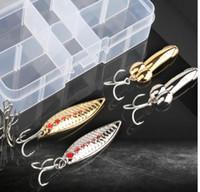 DONQL Colori misti Esche Da Pesca Cucchiaio Esca Metallo Kit Richiamo Paillettes Rumore Paillette con Piuma Treble Hook Tackle Pesca Geer