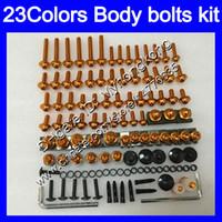 pernos carenado completo kit de tornillos para tornillos YAMAHA YZFR6 98 99 00 01 02 YZFR6 YZF R6 1998 1999 2000 2001 2002 tuercas del cuerpo de tuerca 25colors juego de pernos