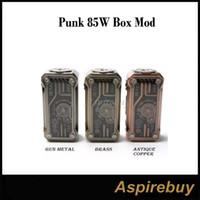 100% original Tesla Punk 85w Box Mod Teslaecigs Punk Mod Desarrollado por Dual 18650 Baterías Teslacigs