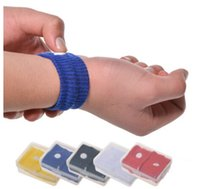 Wholesal Anti Nausea Wristbands Автомобиль против тошноты Болезнь Многоразовое движение Sea Sick Регулируемые браслеты для путешествий Здравоохранение с прозрачной коробкой.