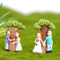 Lovers Under the Tree Mini Doll Figurines Ornament Miniature...