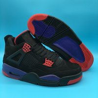 Wholesale 4 IV black purple men basketball shoes sports outd...